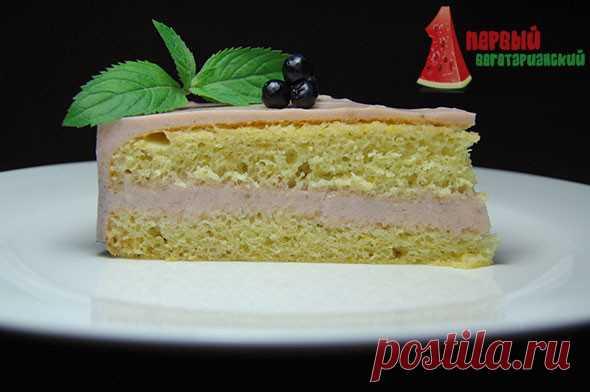 Рецепт: Бисквитный торт с прослойкой желе | Первый Вегетарианский