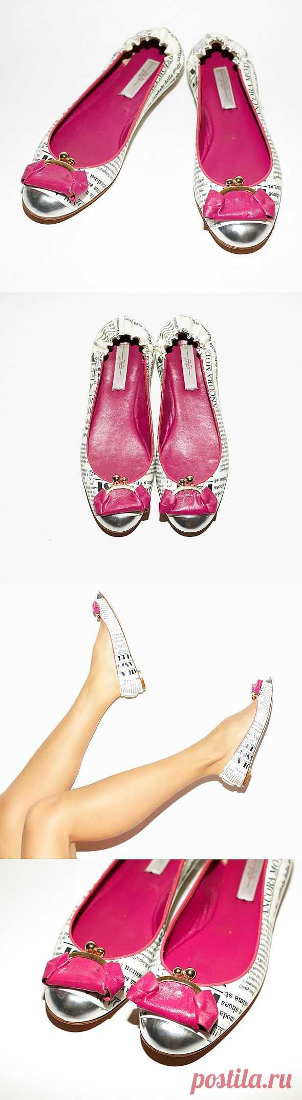 Газетные туфли с кошелечками))) / Обувь / Модный сайт о стильной переделке одежды и интерьера