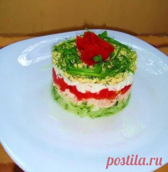 Как сделать порционный салат в форме
