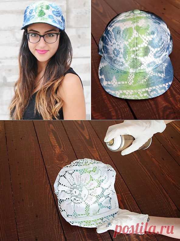 Кружевной питон на кепке / Головные уборы / Модный сайт о стильной переделке одежды и интерьера