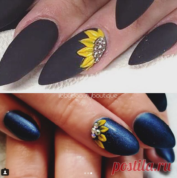 Libby Beauty Boutique в Instagram: «Pinterest Pick of the week☀️ Swarovski Sunflower Acrylics🌻 Nails done by Shannon💅🏼.. • • Book on our FB Page, online at…»