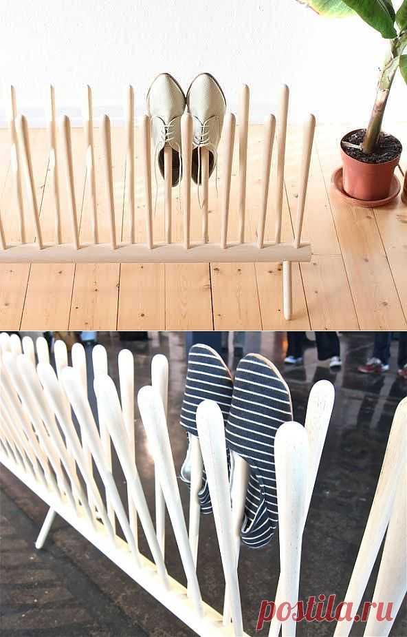 Забор для обуви / Организованное хранение / Модный сайт о стильной переделке одежды и интерьера