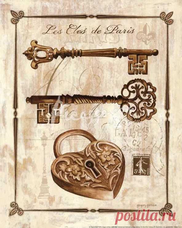 Открытка дверь с ключом