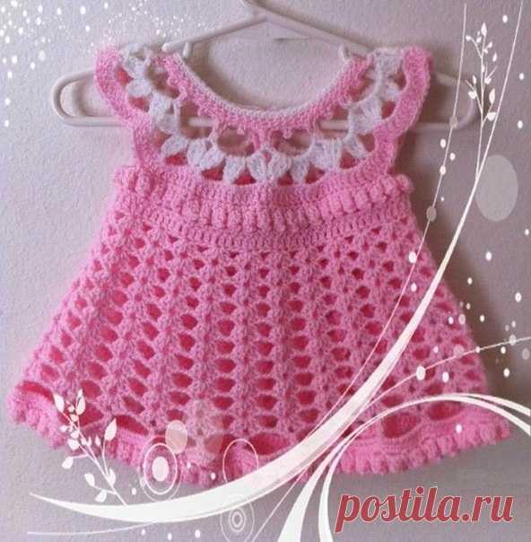 платье для маленькой девочки крючком схема вязание крючком девочка