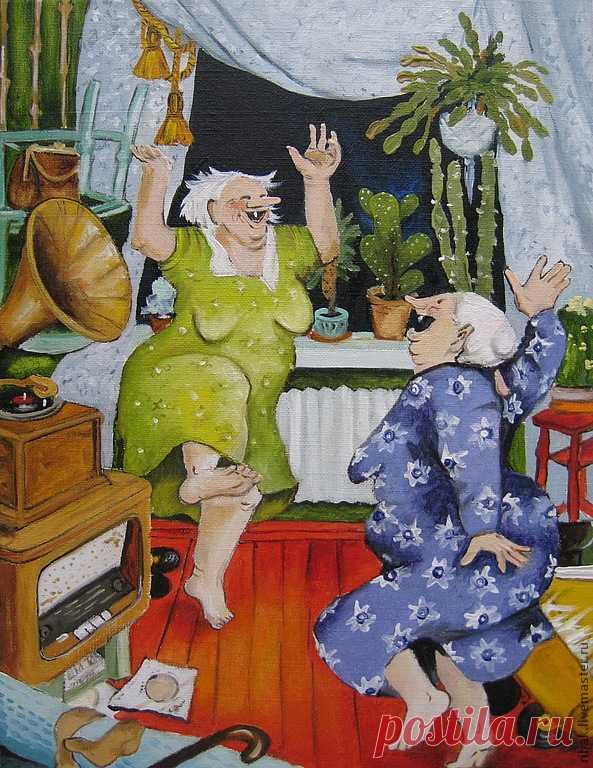 Картинки про двух бабушек