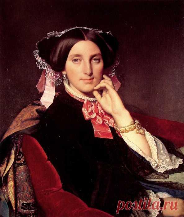 «Мадам Гонс» картина - Жан Огюст Доминик Энгр