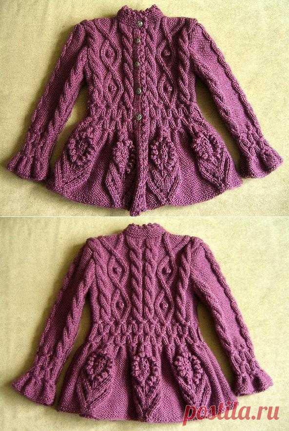 Кардиган для девочки | Шкатулочка для рукодельниц