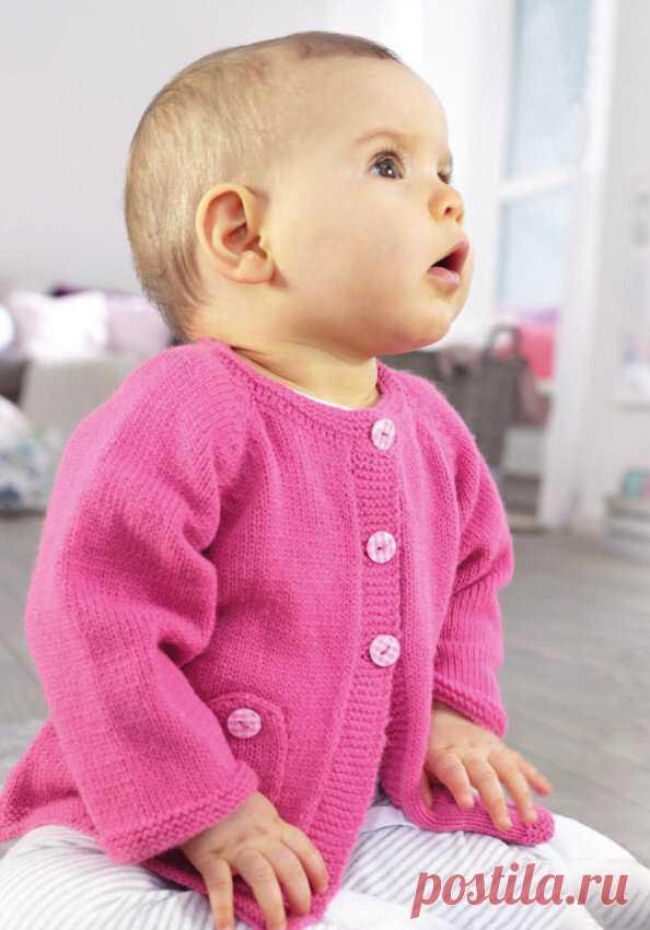 Розовый кардиган для девочки, связанный спицами | Моё хобби.Вязание для детей. | Яндекс Дзен