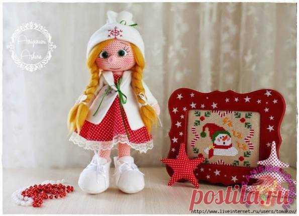 оформление лица вязаной кукле игрушки крючком кукла постила