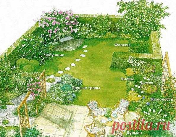 Оформление сада цветами с сильным ароматом