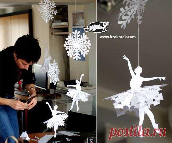 Делаем чудесную снежинку-балеринку — Сделай сам, идеи для творчества - DIY Ideas