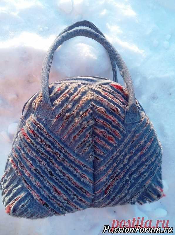 003a4f73cb49 Джинсовая сумка в технике 'синель' | Аксессуары своими руками ...