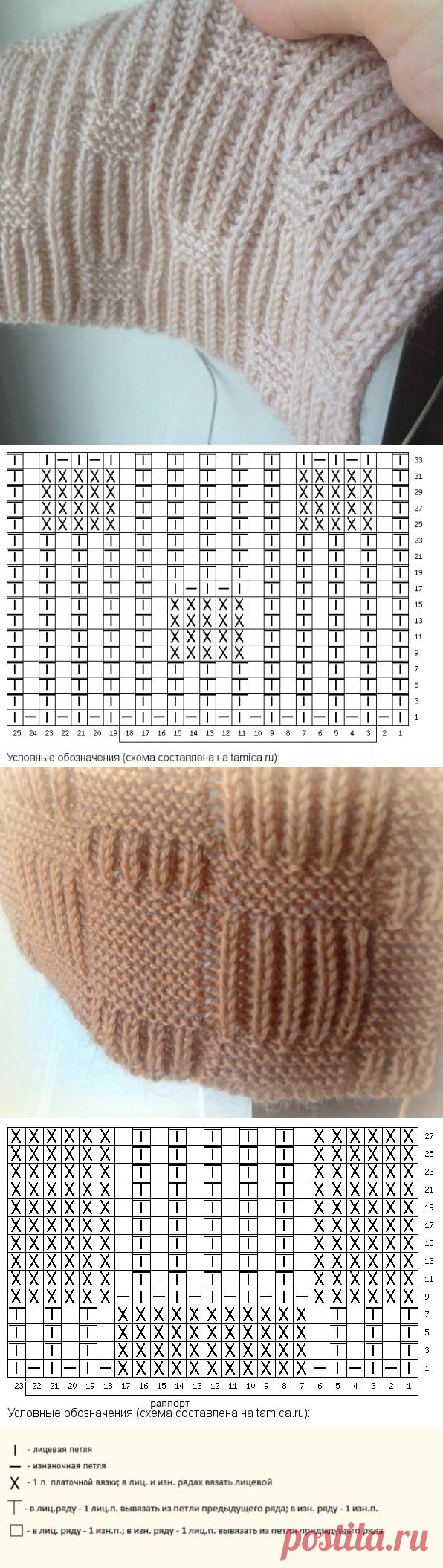Патентная резинка + платочная вязка.