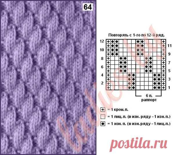 узоры для вязания спицами узор чешуя 1001 узор для вязания спицами