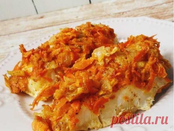 Треска под овощной шубой – мое любимое блюдо, когда я на диете!