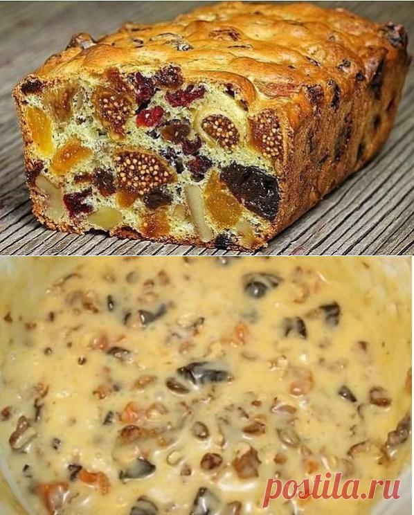 Как приготовить кекс мазурка с сухофруктами и орехами. - рецепт, ингредиенты и фотографии