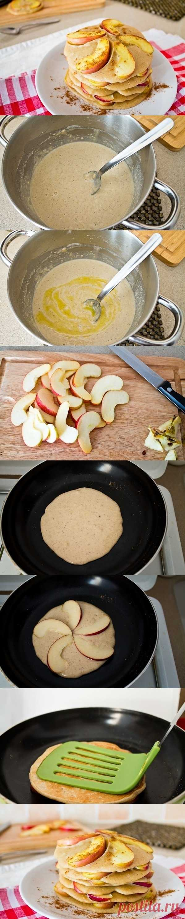 Коричные блинчики с яблоками. (Описание по клику на картинку).