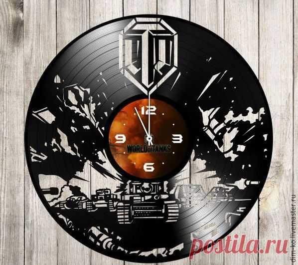Часы из виниловой пластинки World of Tanks – купить в интернет-магазине на Ярмарке Мастеров с доставкой Часы из виниловой пластинки World of Tanks - купить или заказать в интернет-магазине на Ярмарке Мастеров | Часы изготовлены из старых виниловых пластинок.