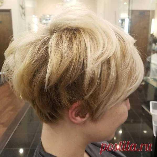 Los peinados foliados para los cabellos cortos | los Peinados y el peinado | Yandeks Dzen