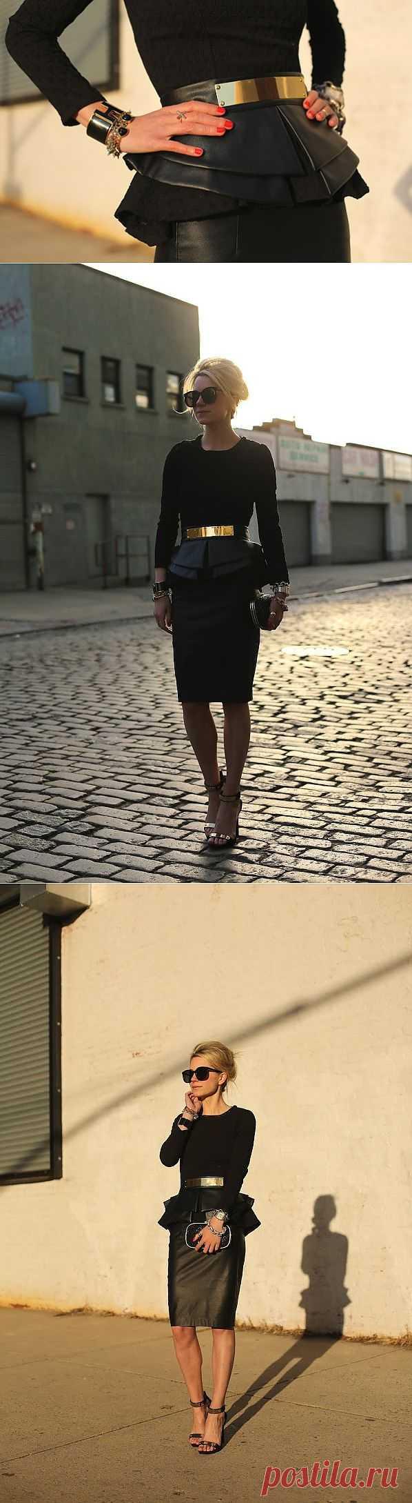 Кожаный пояс-баска ASOS / Ремни / Модный сайт о стильной переделке одежды и интерьера