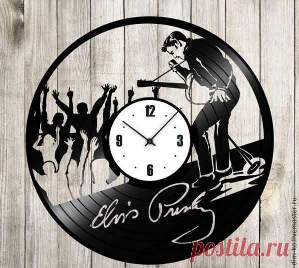 Часы из виниловой пластинки Элвис Пресли – купить в интернет-магазине на Ярмарке Мастеров с доставкой Часы из виниловой пластинки Элвис Пресли - купить или заказать в интернет-магазине на Ярмарке Мастеров | Часы изготовлены из старых виниловых пластинок.