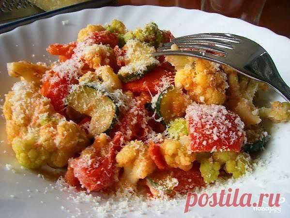 Цветная капуста в сливочном соусе с овощами - пошаговый кулинарный рецепт на Повар.ру