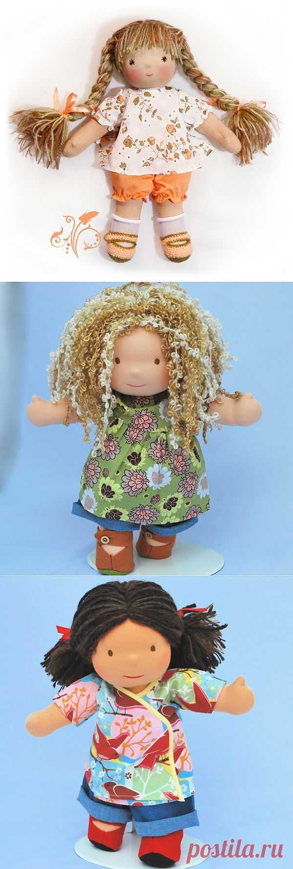Подробный мастер класс, на создание кукол. Очень красивые получаются и прекрасный подарок для малыша.
