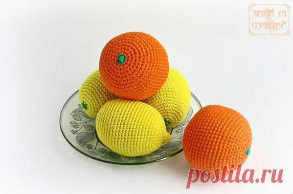Схема вязания цитрусовых фруктов крючком с описанием Схема вязания цитрусовых фруктов апельсина и лимона от автора Марии Бельдяковой. Вязаный лимон и апельсин хорошо будут смотреться на кухне в корзине для