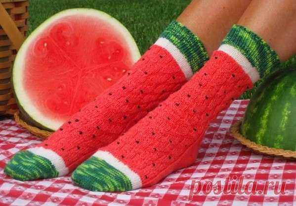 Арбузные носочки / Вязание / Модный сайт о стильной переделке одежды и интерьера