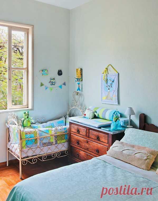 Спальня для мамы, папы и ребенка