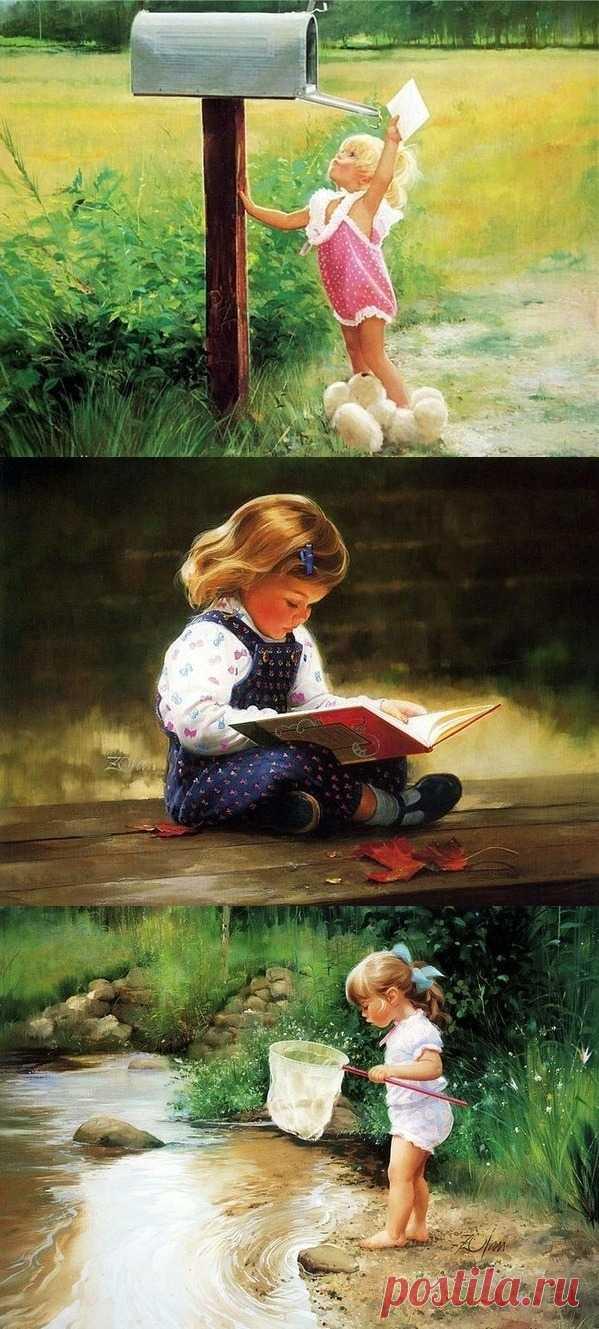 Дети как источник вдохновения для художника Дональда Золмана