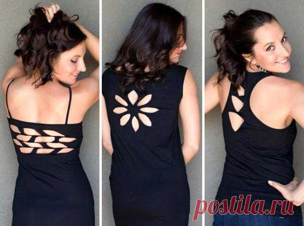 Прорези на спине (DIY) / Прорези / Модный сайт о стильной переделке одежды и интерьера