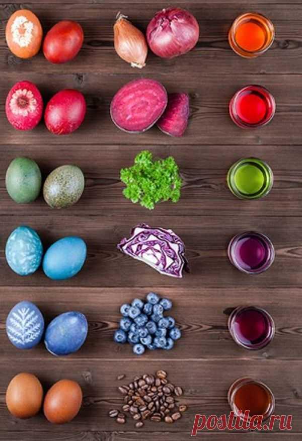 Как покрасить яйца на Пасху природными красителями