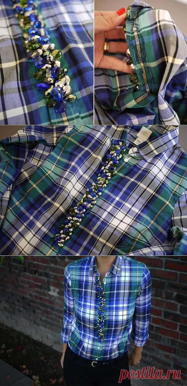 Декорируем рубашку / Декор / Модный сайт о стильной переделке одежды и интерьера