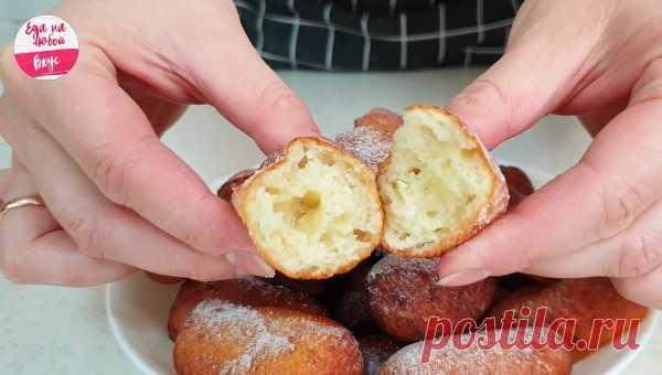 Воздушные творожные пончики-брусочки за 20 минут   Еда на любой вкус