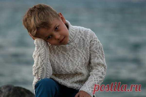 Детский свитер спицами. 4 модели для мальчиков из интернета с описанием | Модное вязание | Яндекс Дзен