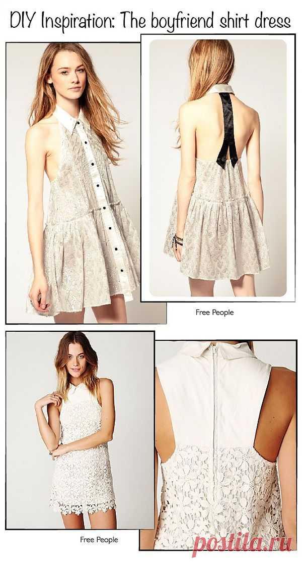 """Платье """"из рубашки"""" / Вещь / Модный сайт о стильной переделке одежды и интерьера"""