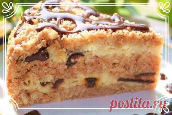 Пирог из песочной крошки с творогом и черносливом (рецепт для детей, и не только)   Ингредиенты:  Для теста:  Мука 300 г.  Показать полностью…