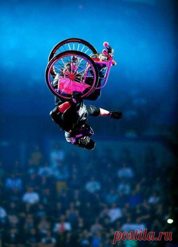 Полет на инвалидной коляске