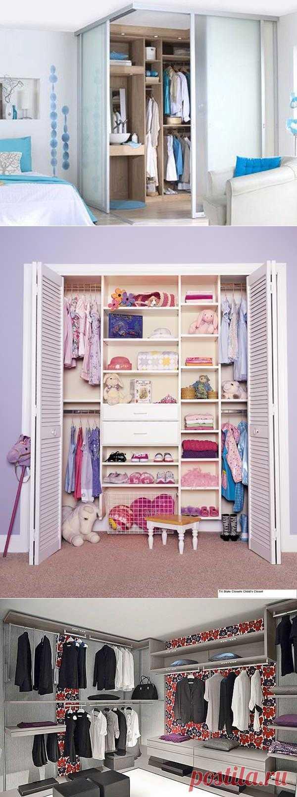 Сто идей и проектов для шкафов и гардеробных, которые экономят пространство и ваши деньги. Эффективно распланированная гардеробная много стоит!