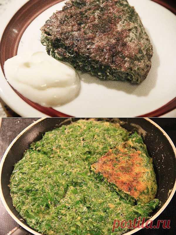 Кюкю(Kükü). Очень простое, вкусное и полезное блюдо. Типичный пример как азербайджанцы любят зелень:)