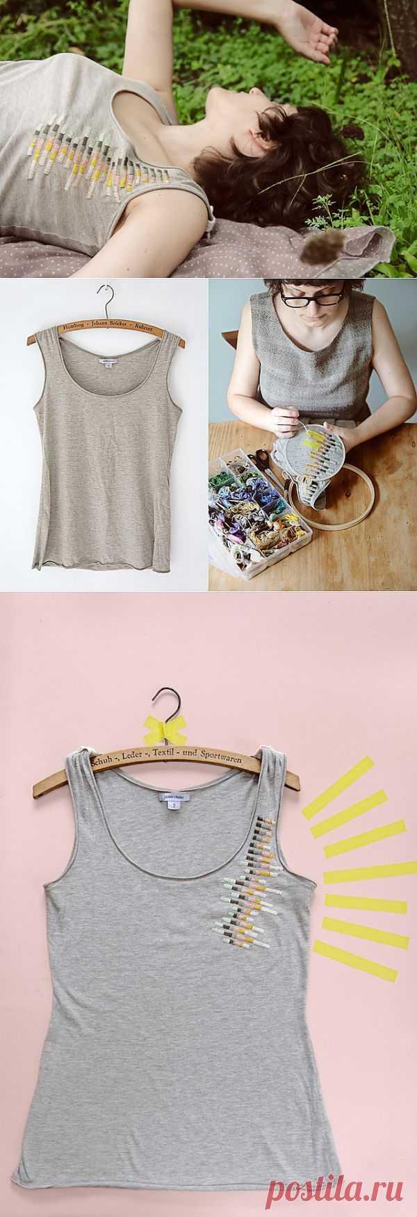 Просто вышивка просто майки (DIY) / Вышивка / Модный сайт о стильной переделке одежды и интерьера