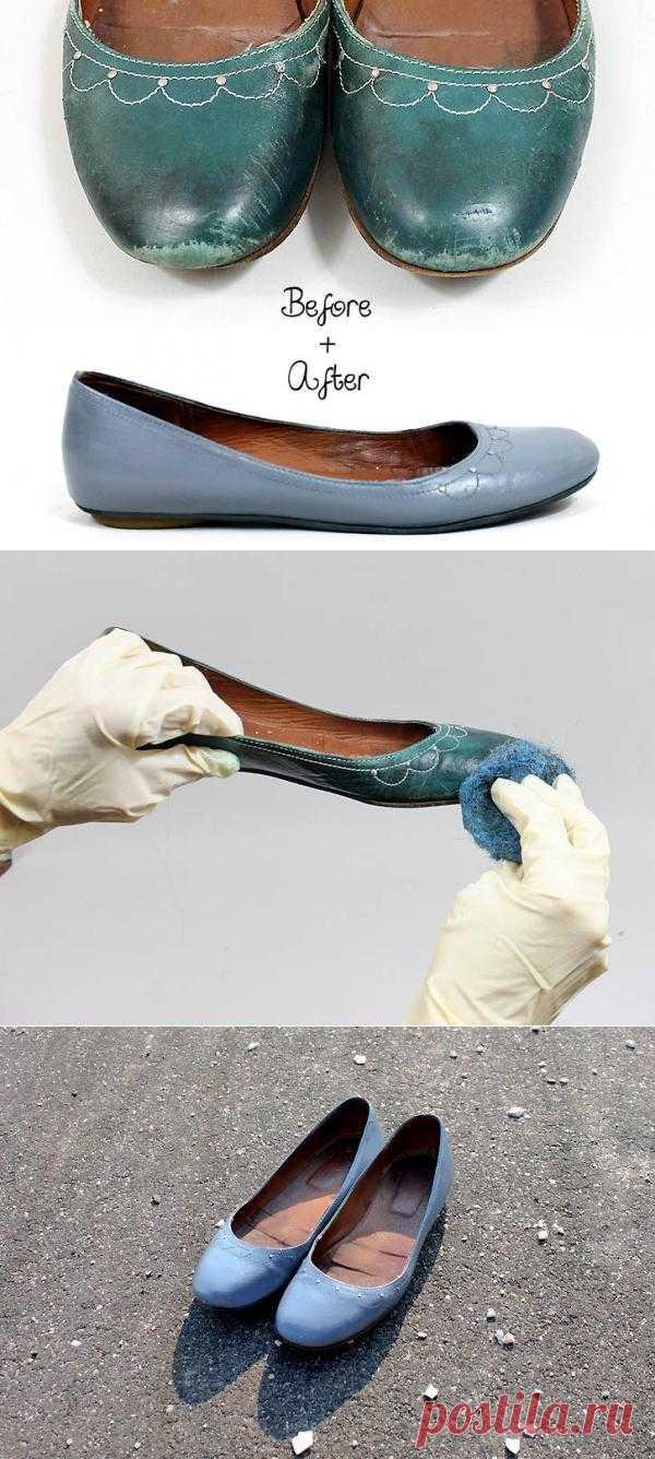 Обновляем балетки с помощью краски для кожи