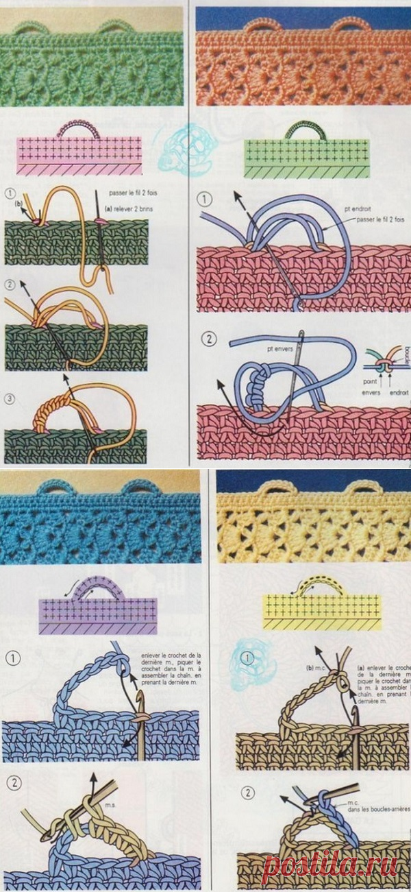 Вязание крючком петельки ком