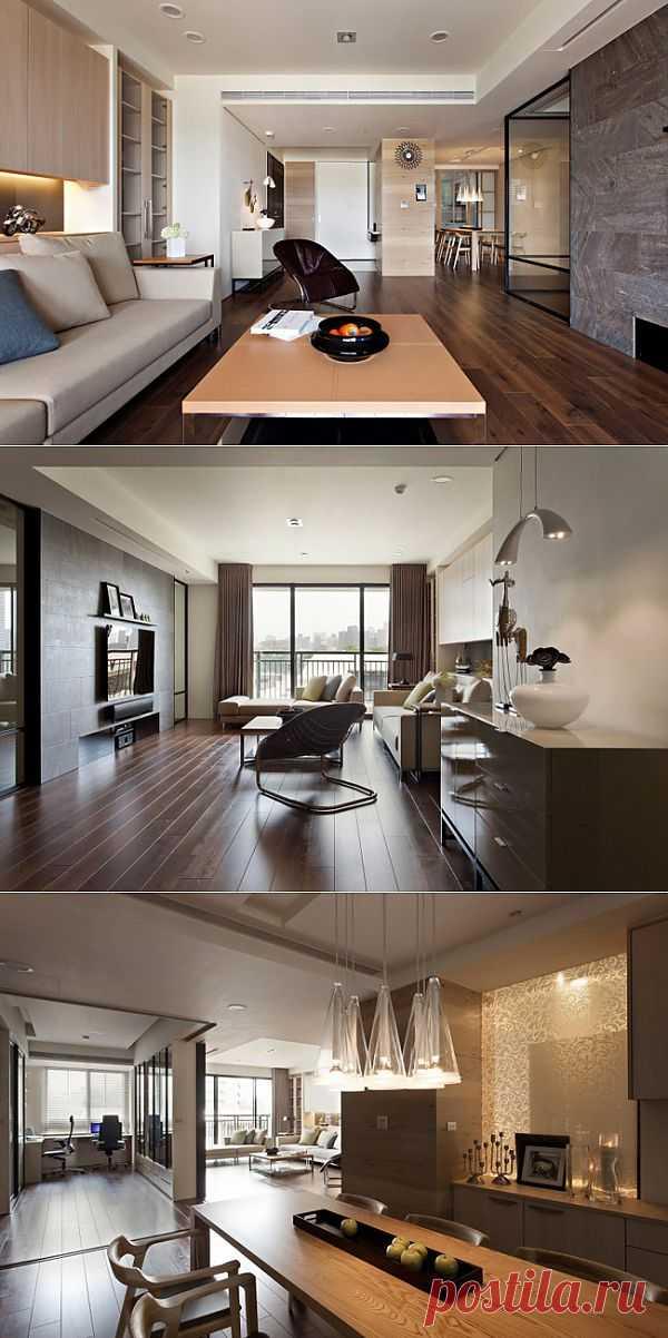 (+1) тема - Дизайн квартиры с выдвижной стеной | Школа Ремонта