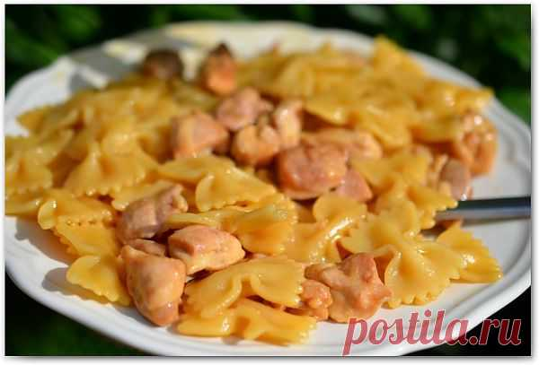 Фарфалле с курицей и мёдом — Привет, Кухонька! Пошаговые рецепты с фотографиями