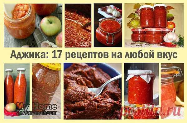 Аджика на любой вкус: http://dom-ozhag.mirtesen.ru/blog/43683107329