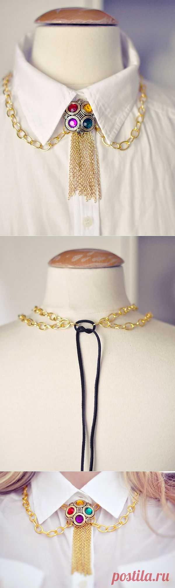 Золотой воротничок / Воротнички / Модный сайт о стильной переделке одежды и интерьера