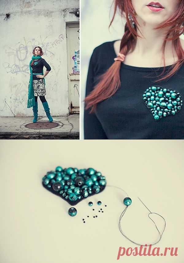 Сердце на булавке (Diy) / Украшения и бижутерия / Модный сайт о стильной переделке одежды и интерьера