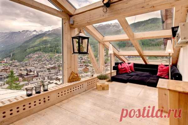 Chalet04 Шале пентхаус в швейцарских Альпах